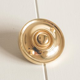 Round Bell Push - Brass