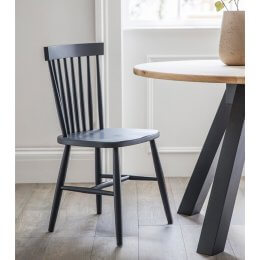 Spindle Back Chair - Carbon
