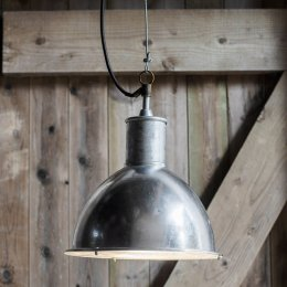 St Ives Galvanised Bay Outdoor Pendant Light - save 15%