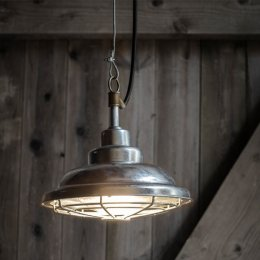 St Ives Galvanised Mariner Outdoor Pendant Light - save 25%