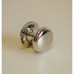 Victorian Cupboard Knob - Polished Nickel