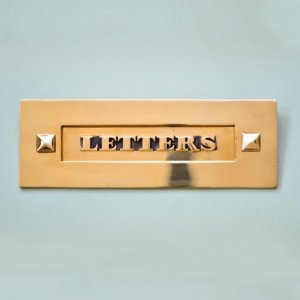 Classic Letterplate Without Clapper - Brass