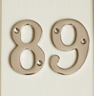 House Number '8' - Nickel