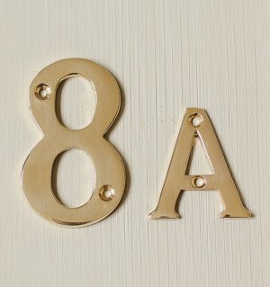 House Letter 'A' 'B' - Brass