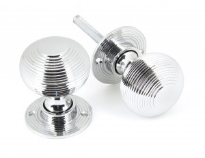 Polished Chrome Heavy Beehive Mortice/Rim Knobs image