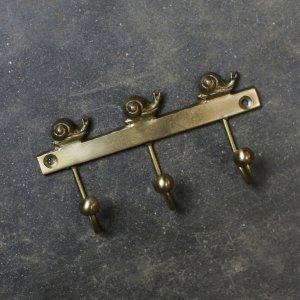 Brass Hooks - Snail