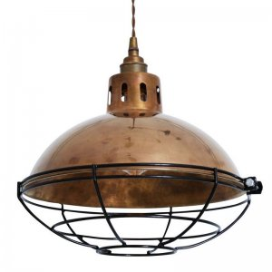 Factory Pendant Light With Cage