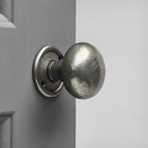 Cottage Bun Door Knobs (Pair) - Antique Iron
