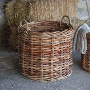 Chunky Rattan Log Baskets