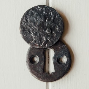Circular Forged Covered Escutcheon - Black SAVE 25% - Only 2 Left In Stock