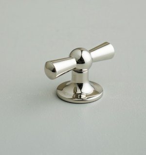 Crossed Cupboard Knob - Polished Nickel