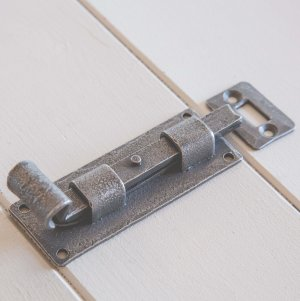 Forged Dartington Door and Cupboard Bolt - Patine