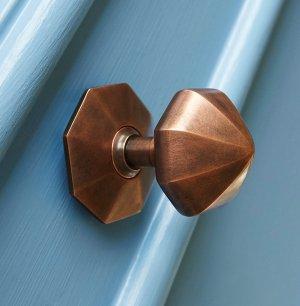 Pointed Octagonal Door Pull - Autumn Bronze