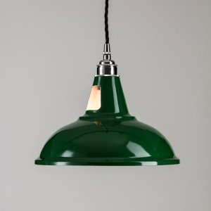 Factory Pendant Light - Old School Green
