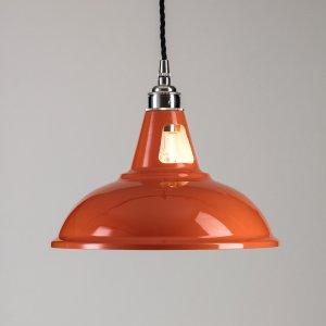 Factory Pendant Light - Orange