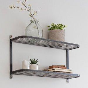 Steel Double Wall Shelf