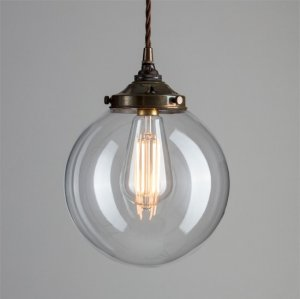 Globe Pendant Light - Antique Brass