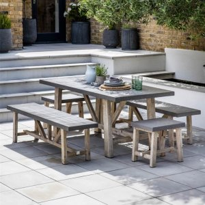 Indoor / Outdoor Table & Bench Set - Small