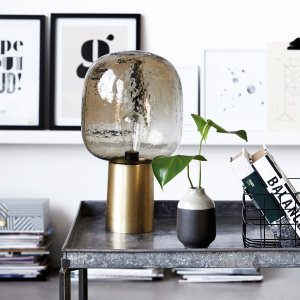 Glass Globe Table Lamp