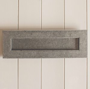 Large Hand Forged Letterplate- Pewter