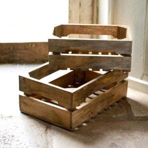 Mango Wood Storage Boxes