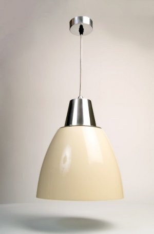 Noah Pendant Light - Cream (White Inside) save 40%