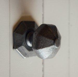 Octagonal Door Pull - Patine