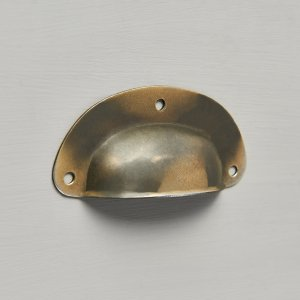 Pressed Cup Handle - Antique Brass (Small)