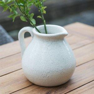 Ravello Ceramic Flower Jug - White save 30%