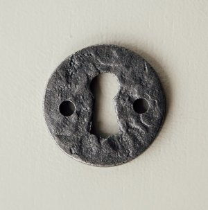 Round Hand Forged Escutcheon - Patine