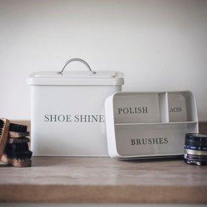 Shoe Shine Tin - Chalk