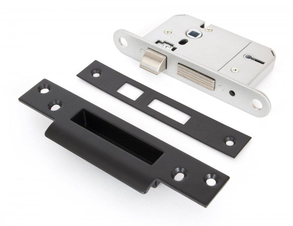 "Black 2.5"" British Standard 5 Lever Sashlock - Keyed Alike image"