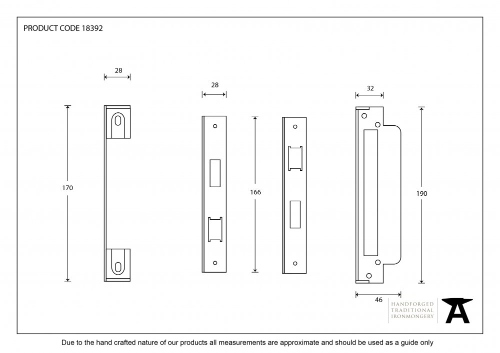 Black '' Euro Sash Lock Rebate Kit image