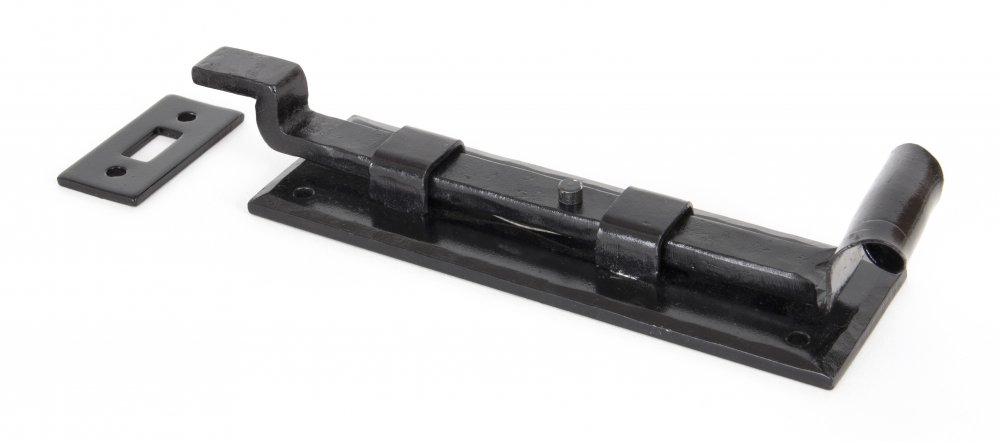 "Black 6"" Cranked Door Bolt image"