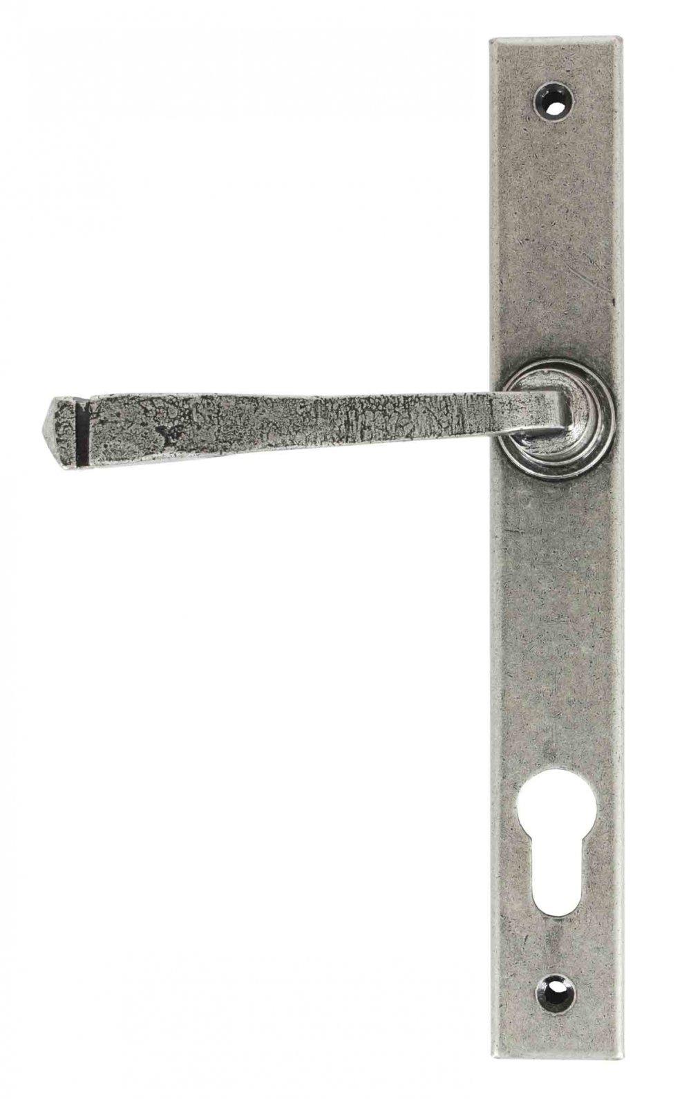 Avon Slimline Lever Espag. Lock Set - Pewter Patina image