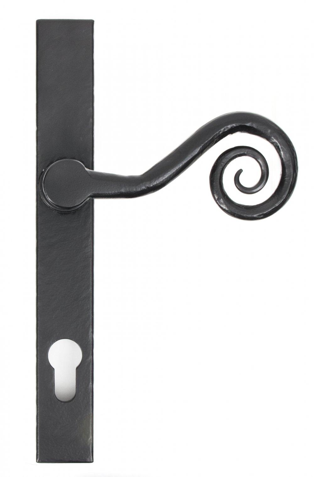 Black Monkeytail Slimline Lever Espag. Lock Set - RH image