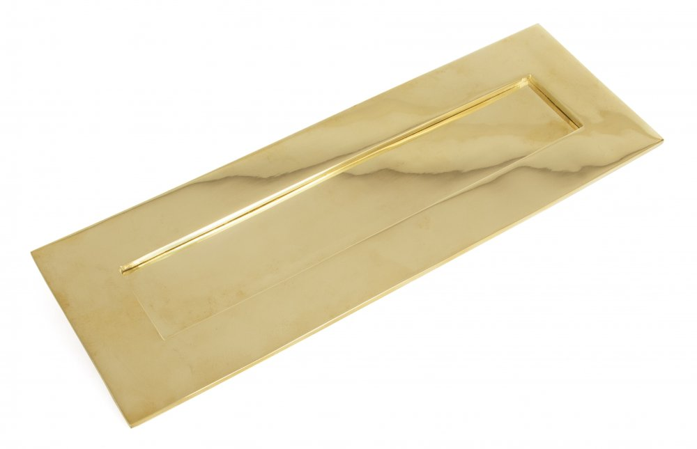 Polished Brass Letterplate - Large image