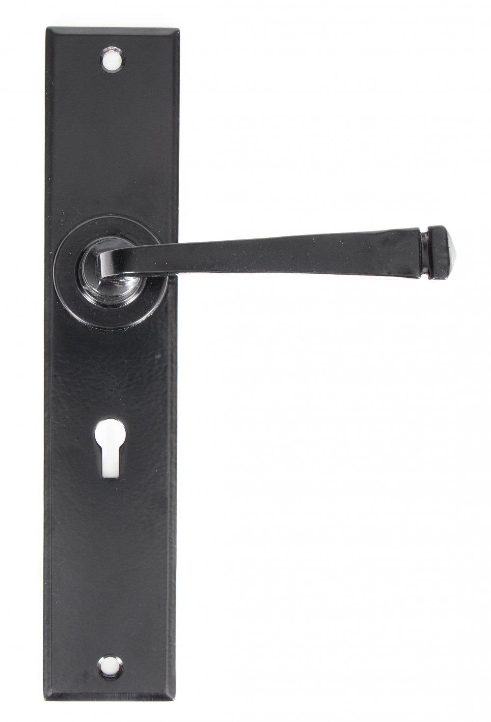 Black Large Avon Lever Lock Set image