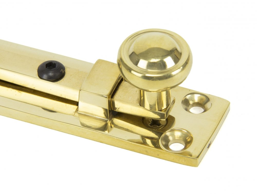 "Polished Brass 4"" Universal Knob Bolt image"