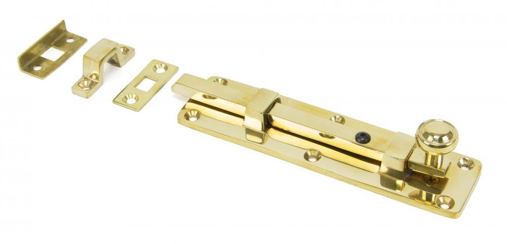 "Polished Brass 6"" Universal Knob Bolt image"