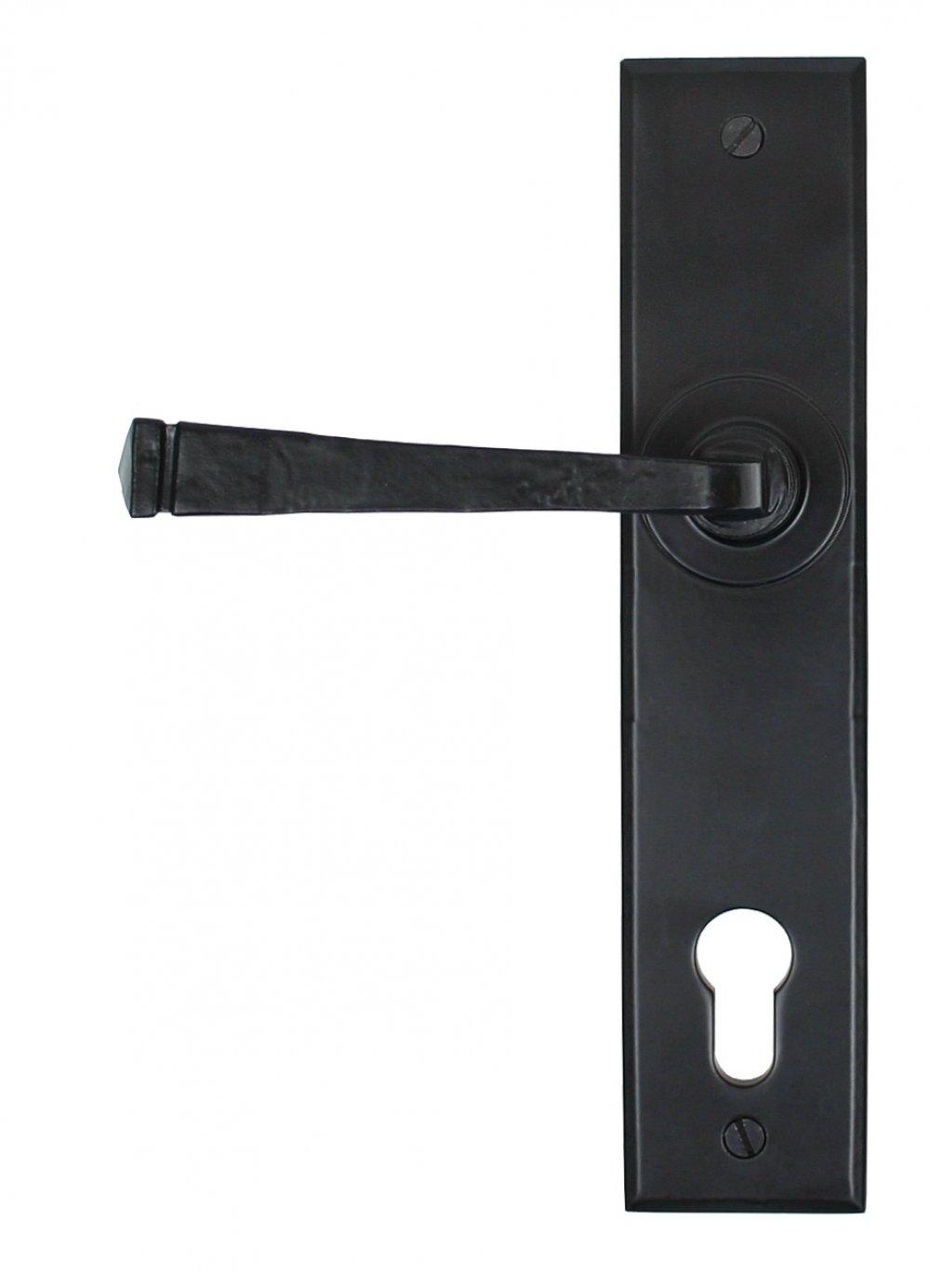 Black Avon Lever Espag. Lock Set image