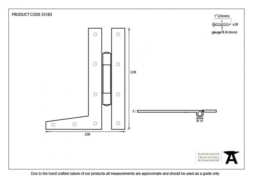Beeswax 9'' HL Hinge (pair) image