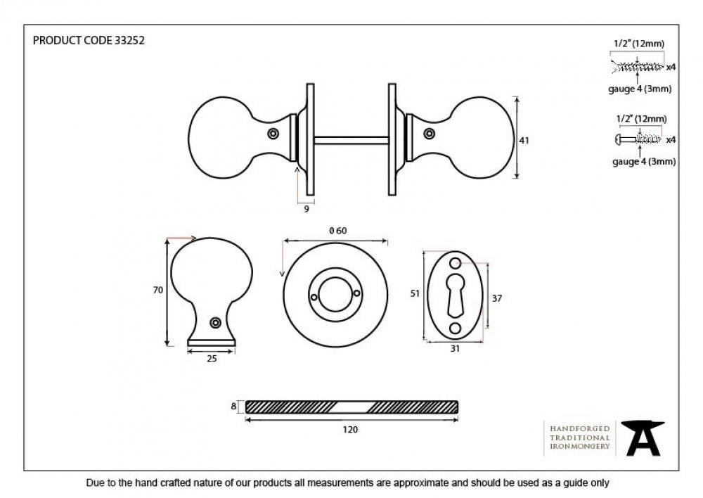 Black Round Mortice/Rim Knob Set image