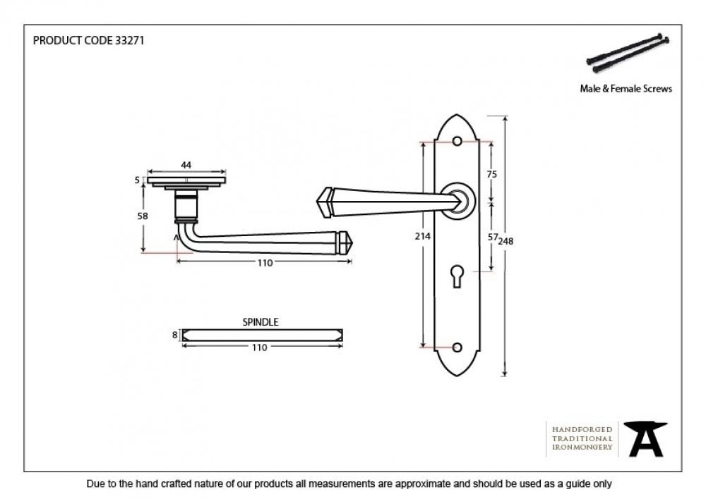 Beeswax Gothic Lever Lock Set image