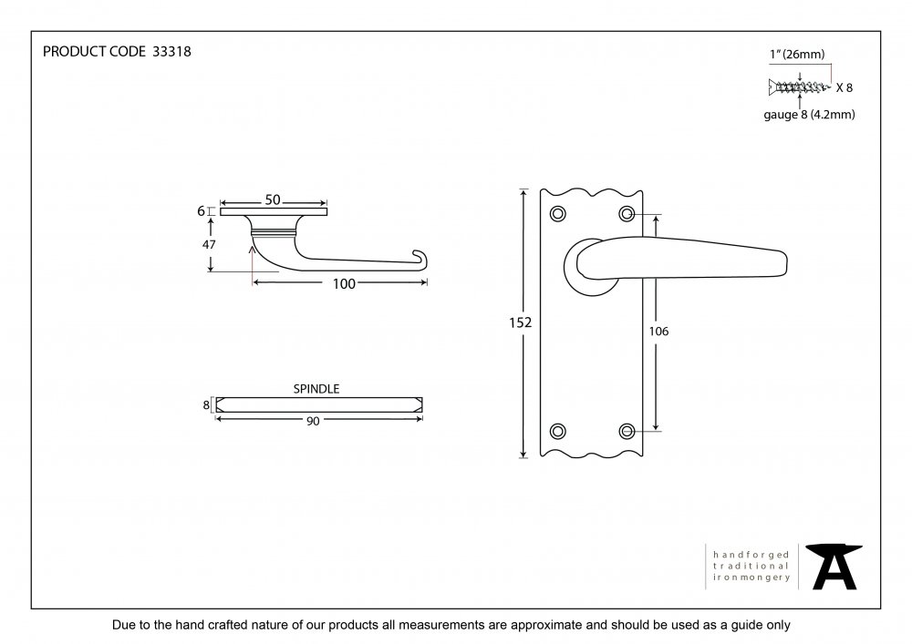 Black Oak Lever Latch Set image