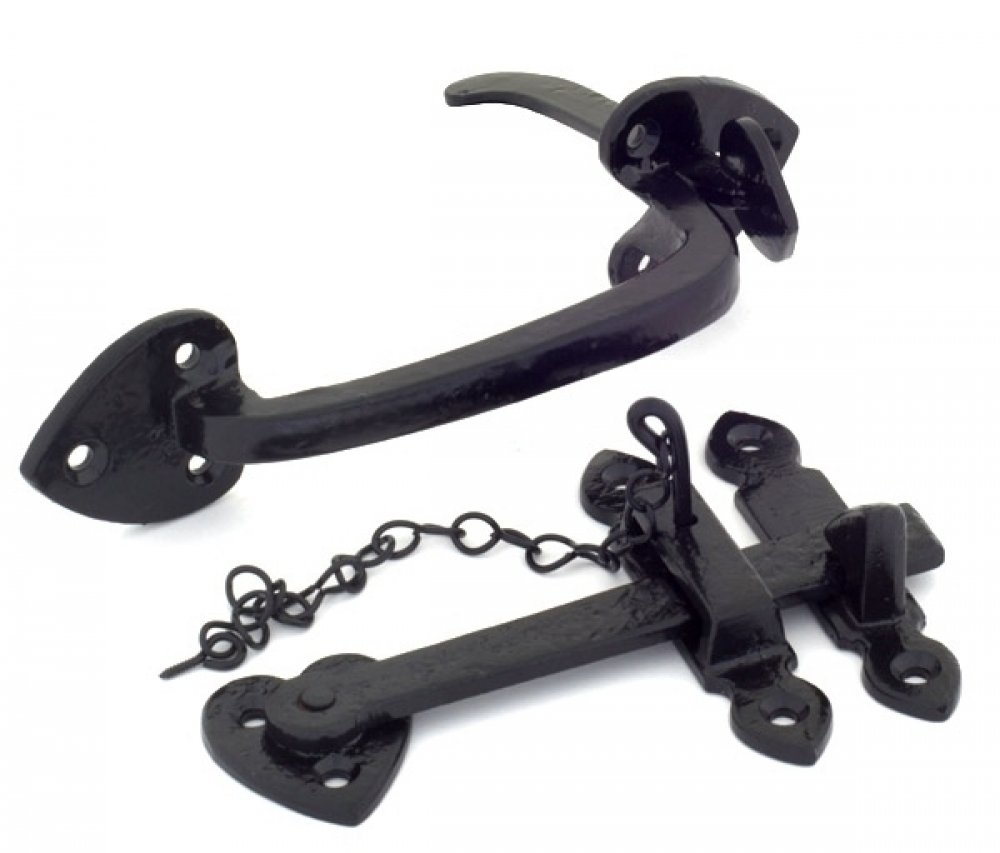 Black Thumblatch Set with Chain image