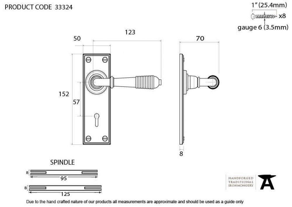 Polished Nickel Reeded Lever Lock Set image