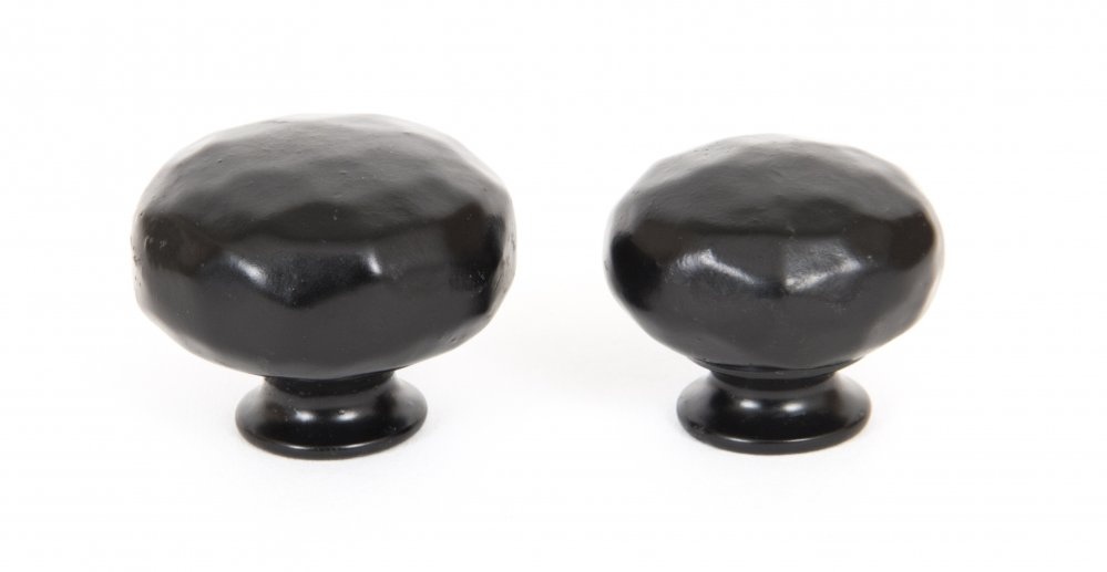 Black Hammered Knobs - Small image