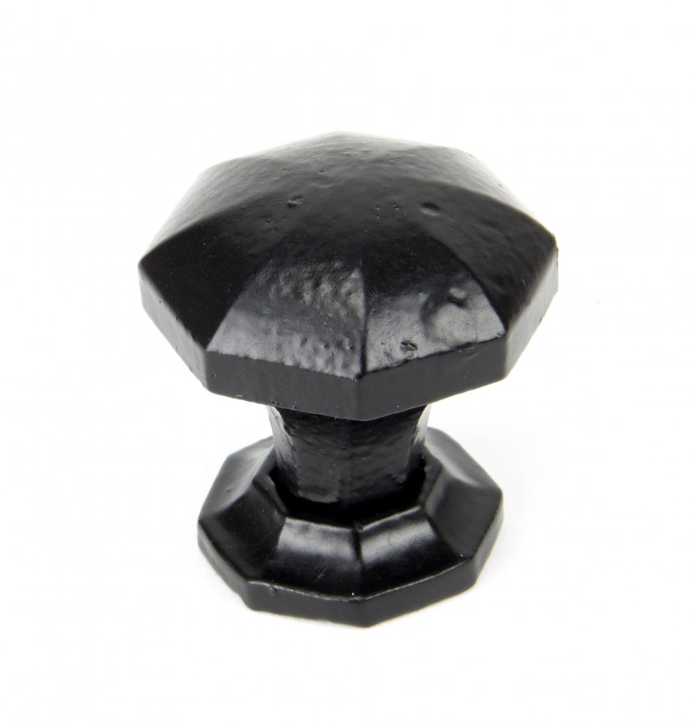 Black Octagonal Cabinet Knobs - Small image