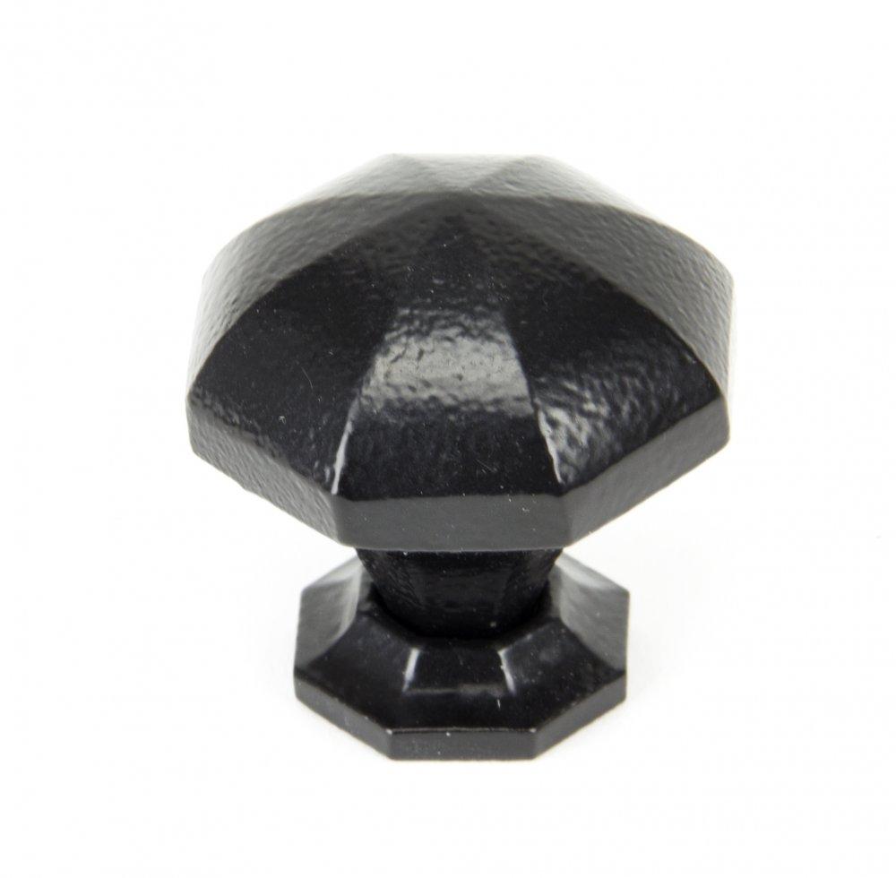Black Octagonal Cabinet Knobs - Large image